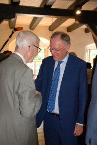 Ministerpräsident Stephan Weil mit Adolf Freiherr von Wangenheim