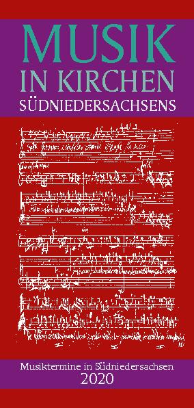 Titelbild Musik in Kirchen Südniedersachsens 2020